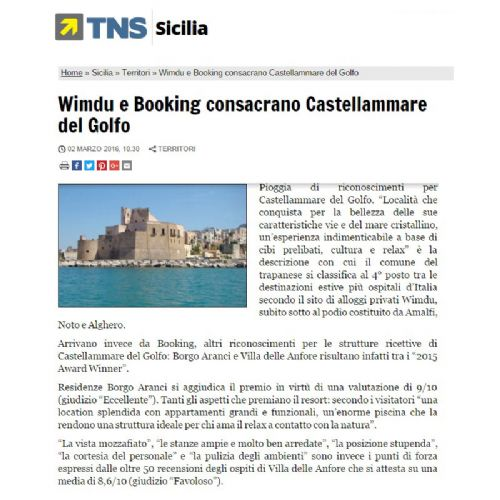 Wimdu Consacra Castellammare del Golfo